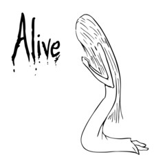 Alive cartoon