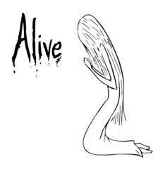 Alive cartoon
