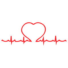 Heart palpitations pulse vector illustration