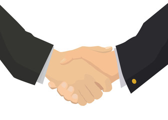 Handshake flat isolated illustration for business and finance
