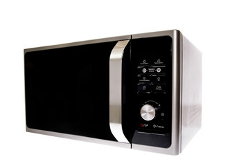 Modern Microwave With Grill. Isolated