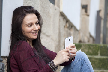 by becoming a selfie girl with phone