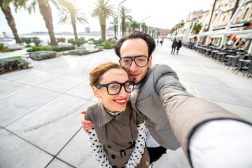 Couple taking selfie picture