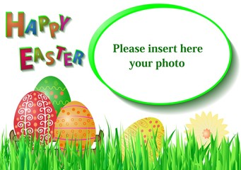 Easter card with frame for photo