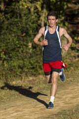 Male cross country runner