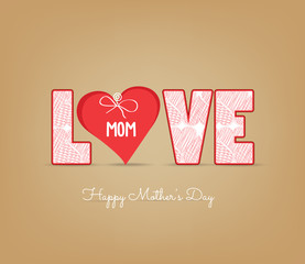 Greeting card design for Mother's Day