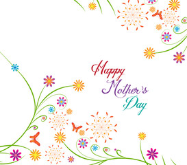 Happy Mothers's Day florals Background