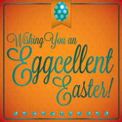 Retro vintage style Easter card in vector format.