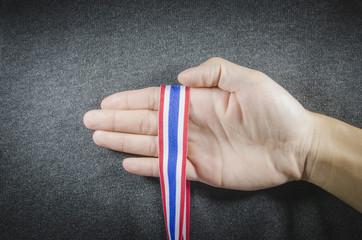 Hand of flag