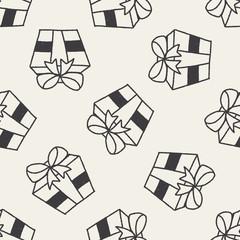 doodle gift seamless pattern background