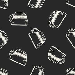 Doodle Tea seamless pattern background