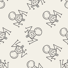 Doodle Spaceship seamless pattern background
