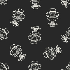 Doodle Surprise Box seamless pattern background