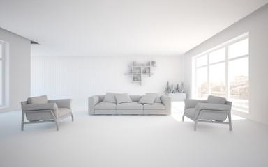 abstract grey interior design