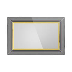 Realistic photo frame, vector illustration.