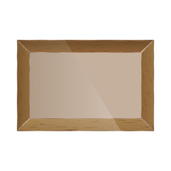 Realistic photo frame, vector illustration.