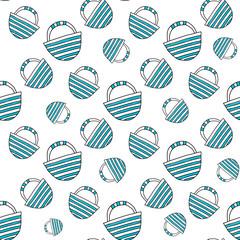 Blue travel bag seamless vector illustration for your design