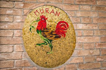 Venise coq symbole de Murano Muran souffleurs de verre