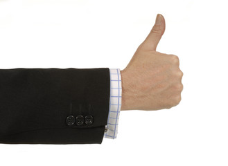 Businessman with thumb up