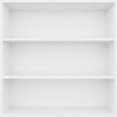 3d white shelves for show case