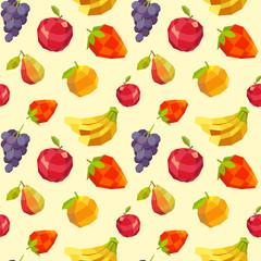 Vintage polygon fruit pattern