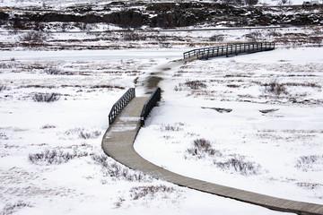 Islanda. strada nella neve