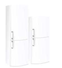 Realistic vector illustration refrigerator