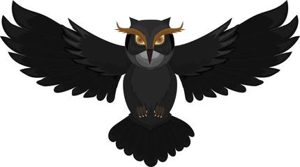 Wall Murals Owls cartoon Dark owl