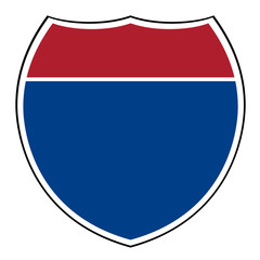 Blank interstate highway shield
