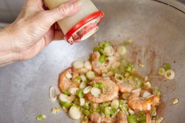 Adding pepper