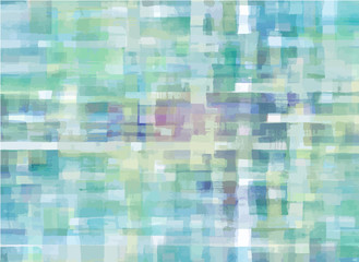 Pattern of colorful abstract watercolor geometric shapes. Vector