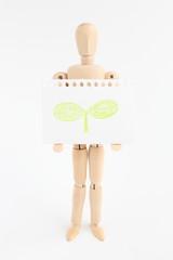 デッサン人形とスケッチブック エコ