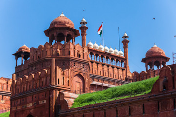 Red Fort, UNESCO world Heritage Site, Delhi, India.