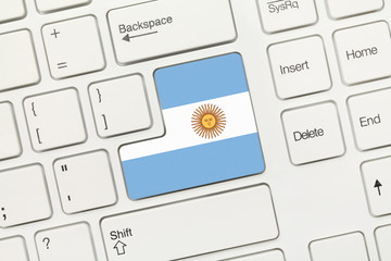 White conceptual keyboard - Argentina (key with flag)