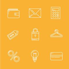 Internet Shopping Icon Set e-commerce