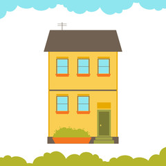 House flat design vector illustration