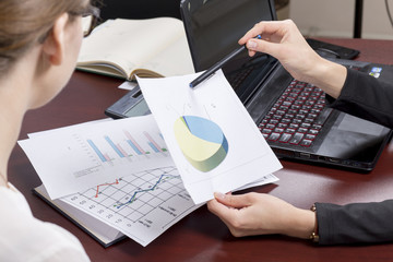Businesswoman show report, business performance concept