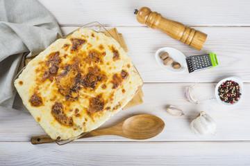 Bacalao con patatas gratinado a la nata estilo cocina portuguesa