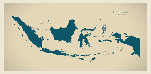 Modern Map - Indonesia ID