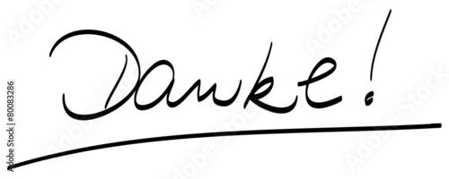 u0026quot danke   handschriftlich  unterstrichen  vektor