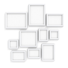 Blank frameworks for pictures and photos