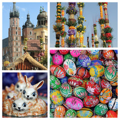 Easter time collage - images from Krakow