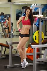 fitness woman im gym