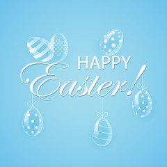 Blue Easter background