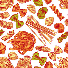 seamless background with pasta - 2