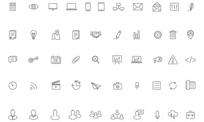 Business Icon Set, Line