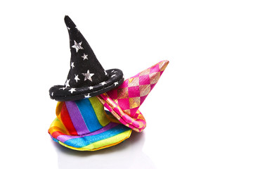Clown hats isolated on white