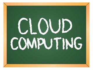 cloud computing word written on chalkboard