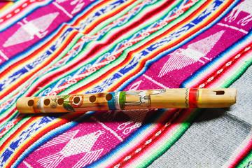 wooden peruvian flute