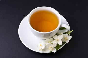 One cup of jasmine tea